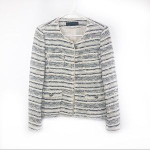 Zara Woman | Tweed Button Blazer - Size M